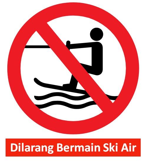 rambu dilarang bermain ski air